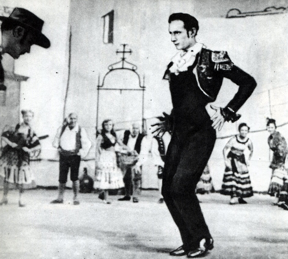Молодой французский исполнитель танце с негром юри лупан олы